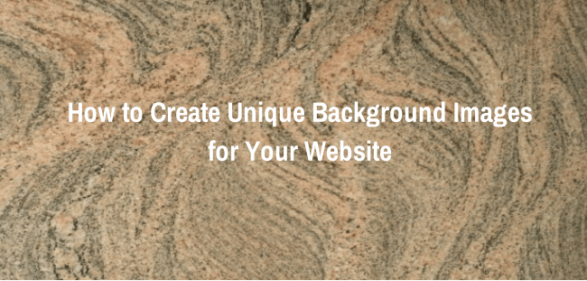 How to Create Unique Background Images for Your Website
