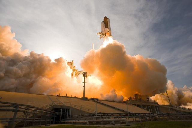 image of a space shuttle liftoff